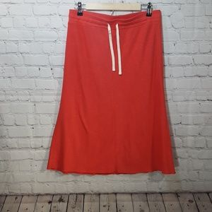 Skirts - 2x$20 Joe fresh calf length bright coral skirt sm